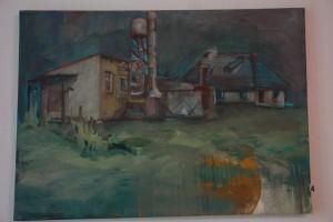 5. AGATA PĘCAK –  Widok na domek ogrodnika w Przeworsku, pł. olej 50x70 cm, rok 2016, cena 180,- zł