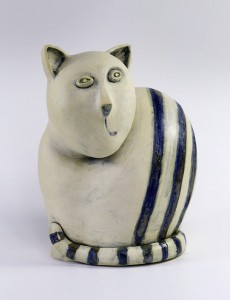 Ceramika_artystyczna_Kot_paski_