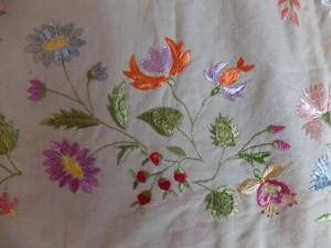 Detal kwiatowy z zapaski Gorliczyna MNZP